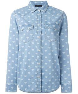 Diesel | Heart Print Shirt Large Cotton
