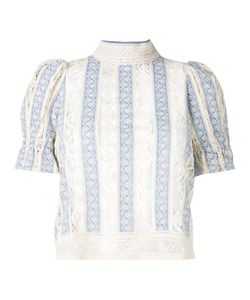 Sea | Victorian Style Stripe Blouse