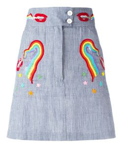 Olympia Le-Tan | Smoking Lips Beaded Skirt 36 Cotton