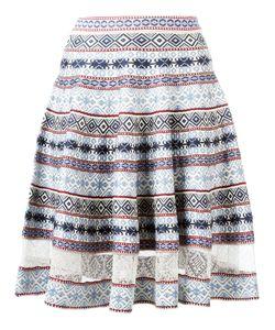 Alexander McQueen | Knee-Length Jacquard Skirt Medium Silk/Viscose/Polyester/Spandex/Elastane