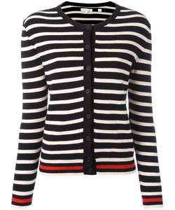Chinti And Parker | Breton Stripe Cardigan Large Cotton/Cashmere