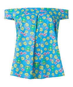 Ultràchic | Frog Print Blouse Size Small