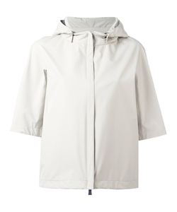 Herno | Shortsleeved Hooded Jacket 40 Polyester/Fluorofibra