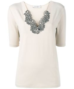 D.exterior | Lace-Collar T-Shirt Size Large