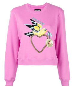 House Of Holland | Dove Heart Cropped Sweatshirt 10