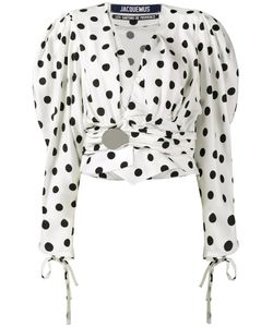 JACQUEMUS | Polka Dot Top With Oversized Sleeves