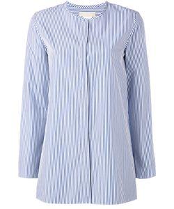 'S Max Mara | S Max Mara Collarless Striped Shirt Size 38