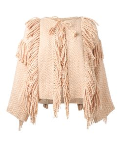 Ulla Johnson | Tassel Fringed Poncho Xs/S Cotton