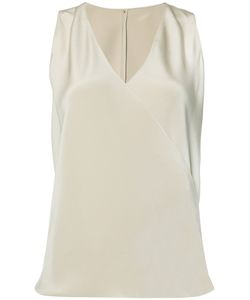 PETER COHEN | V-Neck Top Small Silk