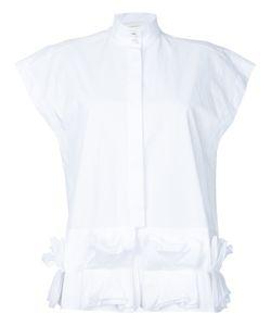 Delpozo   Рубашка С Отделкой Оборками