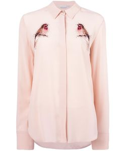 Stella Mccartney | Embroide Robin Crystal Shirt 42 Silk