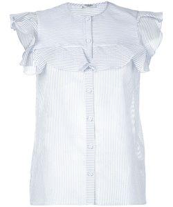 VILSHENKO | Striped Sleeveless Shirt 8 Cotton/Silk/Polyamide