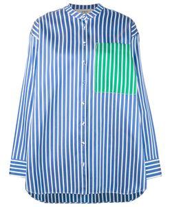 Ports 1961   Полосатая Рубашка Без Воротника