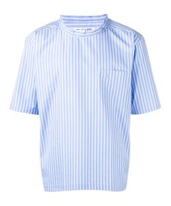 Comme Des Garcons | Comme Des Garçons Shirt Short-Sleeve Stripe Shirt Medium