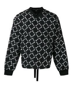 Ktz | Embroidered V-Neck Sweatshirt