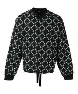 Ktz   Embroidered V-Neck Sweatshirt M