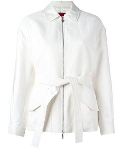 Moncler Gamme Rouge | Padded Belted Jacket 2 Silk/Cotton/Nylon/Goose