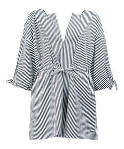 Maison Rabih Kayrouz   Striped Split Neck Blouse Size 40