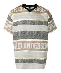 Astrid Andersen   Striped Logo T-Shirt