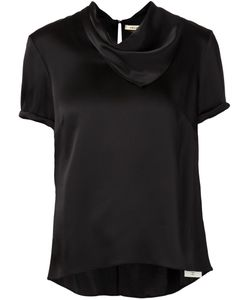 HELLESSY | Draped Neck Short Sleeve Top