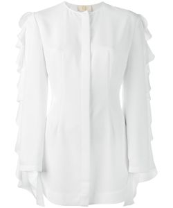 Sara Battaglia | Рубашка С Воланами На Рукавах