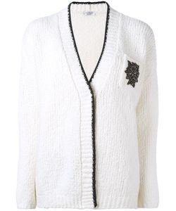 Brunello Cucinelli | V-Neck Cardigan Large Polyamide/Spandex/Elastane/Wool/Swarovski Crystal