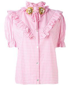Antonio Marras | Ruffled Checked Shortsleeved Shirt