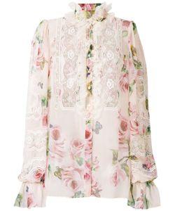 2539107f371 Dolce   Gabbana - Рубашка С Кружевной Вставкой И Цветочным Принтом