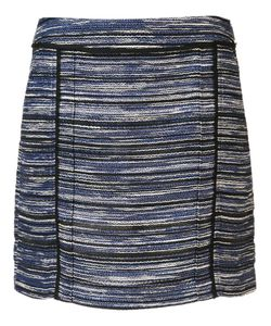 Jason Wu | Melange Stripe Mini Skirt 2 Viscose