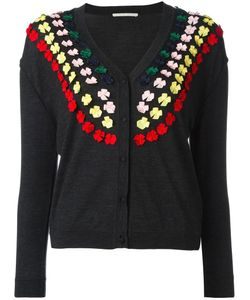 Marco De Vincenzo | Bow Embellished Cardigan 42 Wool/Polyester