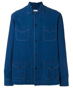 SALVATORE PICCOLO | Multi-Pockets Denim Shirt Size 39