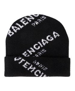 Balenciaga | Вязаная Шапка С Логотипом В Технике Интарсия