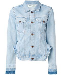 OFF-WHITE | Frill Detail Denim Jacket