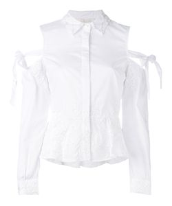 Jonathan Simkhai | Cold Shoulder Poplin Shirt