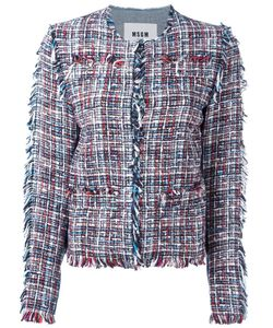 MSGM | Denim Tweed Jacket 44 Cotton/Polyamide/Viscose/Polyester
