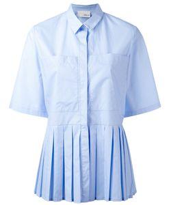 Elaidi | Pleated Trim Short Sleeve Shirt Size 40