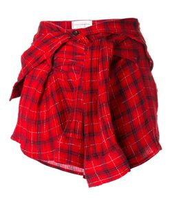 Faith Connexion | Checked Shirt Skirt Small Cotton/Polyester