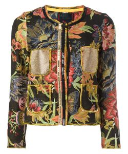 Femme By Michele Rossi | Jacquard Cropped Jacket 42