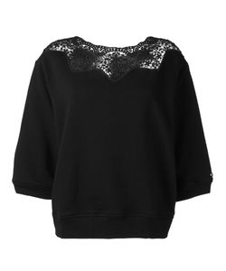 Twin-set   Lace Neckline Sweater Xl Cotton