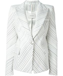 Pierre Balmain | Striped Blazer 40 Acrylic/Cotton/Polyester/Viscose