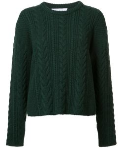 RYAN ROCHE | Cable Knit Cropped Jumper Small Cashmere