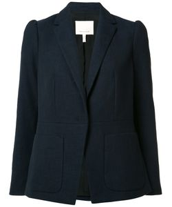 Rebecca Taylor | Patch Pockets Blazer 10 Cotton/Viscose/Polyester/Spandex/Elastane