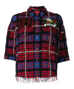 Hilfiger Collection | Tartan Boxy Fringe Shirt Women Cotton/Polyamide/Alpaca/Other