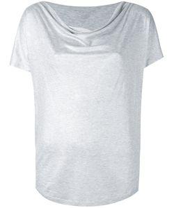 MAJESTIC FILATURES   Draped Neck T-Shirt Size Ii