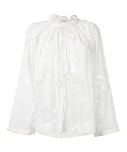 Dorothee Schumacher | Sheer Tie-Up Blouse 4 Silk/Cotton/Viscose