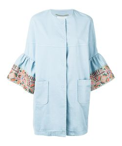 BAZAR DELUXE | Embroidered Sleeve Coat