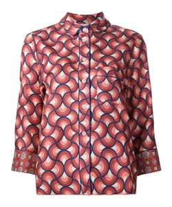 FOR RESTLESS SLEEPERS | Geometric Pattern Shirt Small Silk