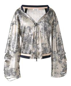 Aviù | Print Zip Up Jacket Size 44 Polyester/Polyamide/Cotton/Spandex/Elastane
