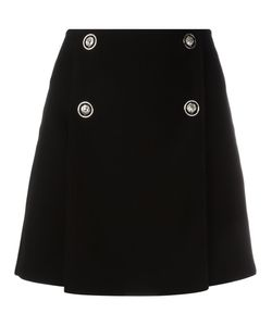 Versus | Buttoned A-Line Skirt 38 Polyester/Viscose/Polyamide/Spandex/Elastane