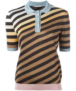 Marco De Vincenzo | Striped Polo Shirt 40 Acetate/Polyester/Polyamide